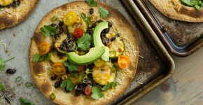 Black Bean & Veggie Baked Tostadas Recipe